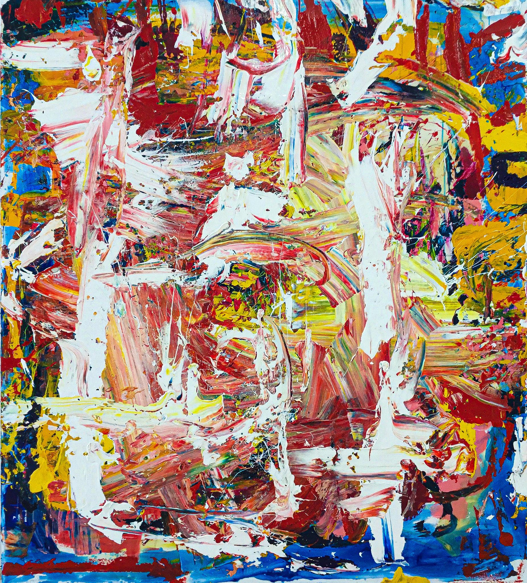 """Large Abstract Acrylic on Canvas Painting """"Encrypted Emotions 7"""""""