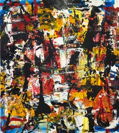 """Large Abstract Acrylic on Canvas Painting """"Encrypted Emotions 8"""""""