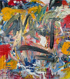 """Large Abstract Acrylic on Canvas Painting """"Encrypted Emotions 5"""""""