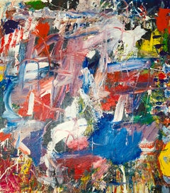 """Large Abstract Acrylic on Canvas Painting """"Encrypted Emotions 6"""""""