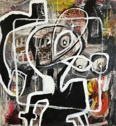 """Large Abstract Acrylic on Canvas Painting """"Lost Within My Own Self 3"""""""
