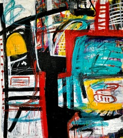 """Large Abstract Acrylic Painting """"Contemplation 4"""""""