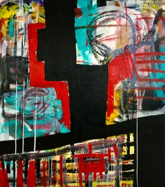 """Large Abstract Acrylic Painting """"Contemplation 5"""""""