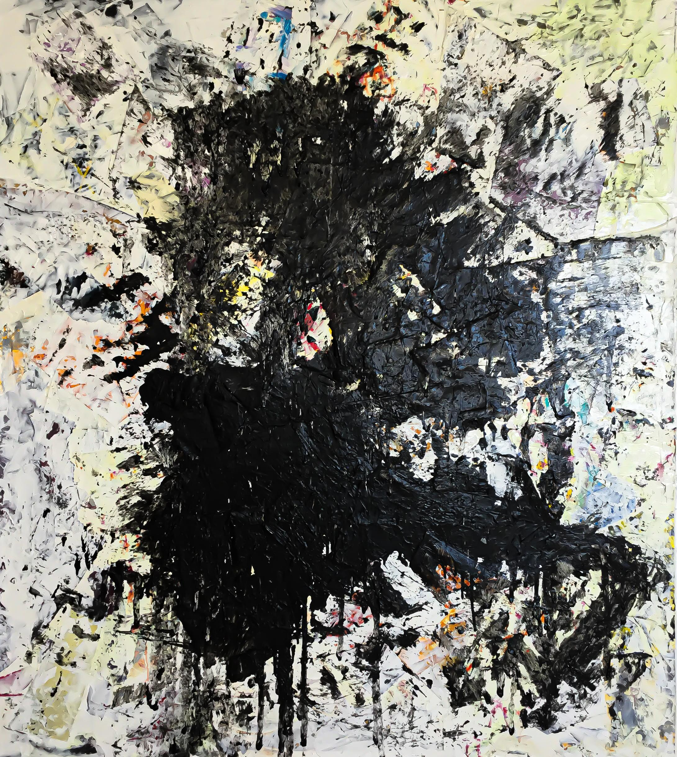 """Large Abstract Acrylic Painting """"Fragments of the Mind 10"""""""