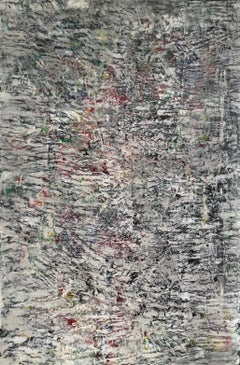 """Large Abstract Painting on Canvas """"Garden in Bloom"""""""