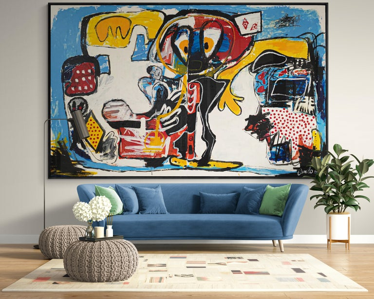 A unique, large scale, expressive artwork, with thick, impasto paint strokes and vivid gel textures. Includes Certificate of Authenticity.