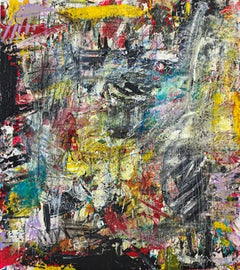 """Large Acrylic and Epoxy Abstract Painting """"Peering Beyond 2"""""""