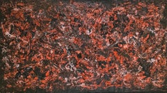 """Impasto Polyurethane Abstract Painting on Canvas """"The Devil's Playground"""""""