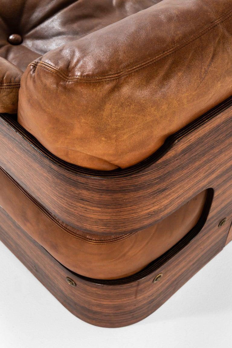 Leather Maija Ruoslahti Sofa Produced by Sopenkorpi in Finland For Sale