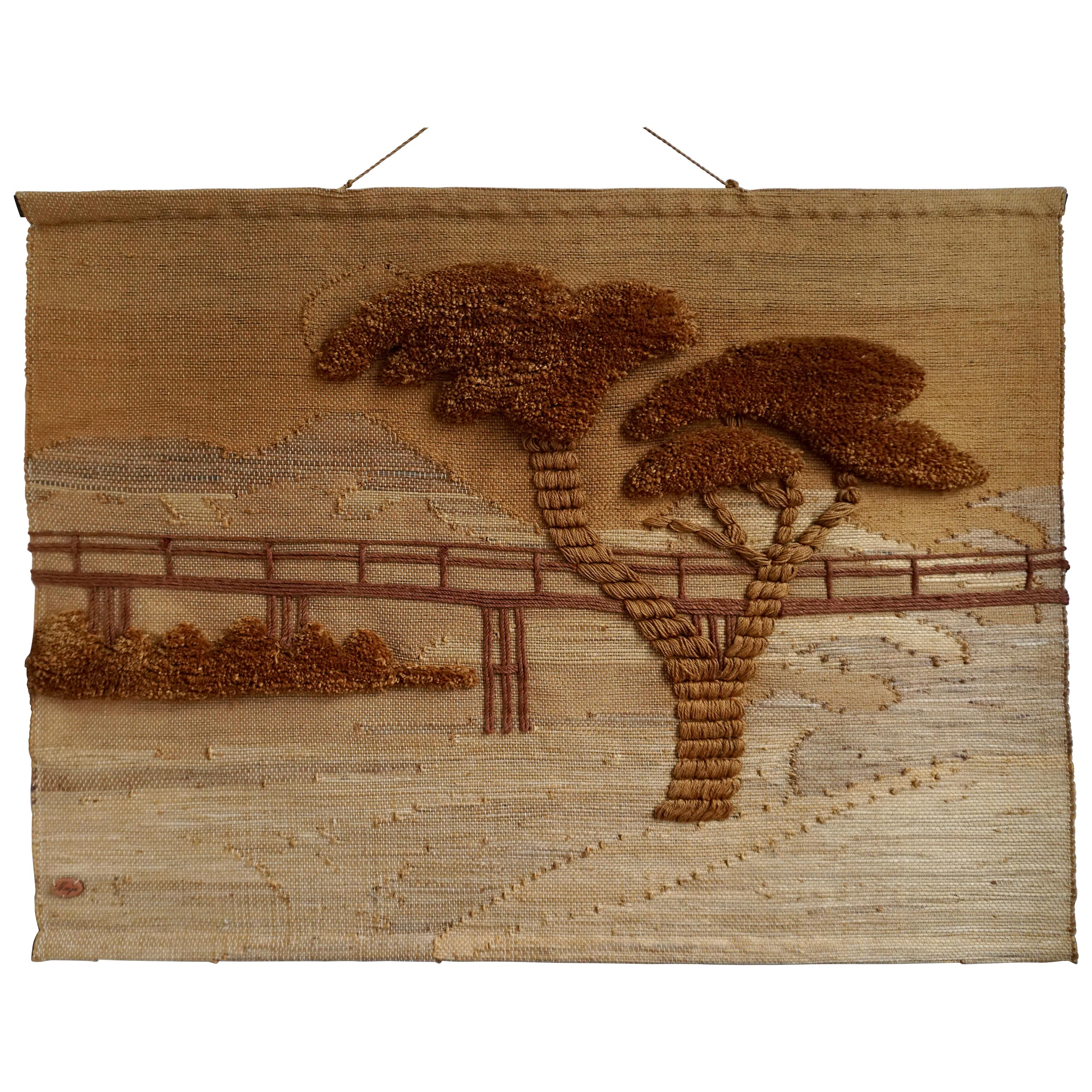 Maija Tapestry Wall Art in Rope