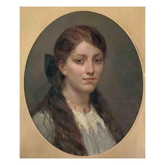 "Maillart Diogene Ulysse ""Portrait of a Young Girl"""