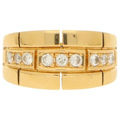 Cartier Maillon Panthere Diamond Ring in Yellow Gold