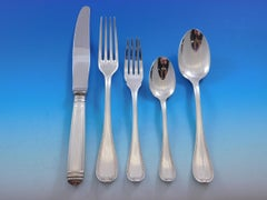 Mailmaison by Christofle France Silverplate Flatware Set for 16 Service 86 piece