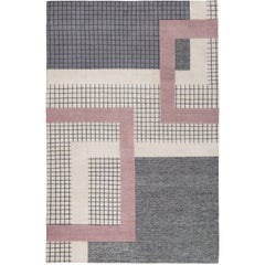 Mainland Light Hand-Knotted 6x4 Floor Rug in Wool and Silk by Sebastian Herkner
