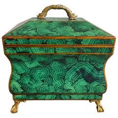 Mainland Smith Faux Malachite Lacquered Box