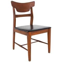 Mainline by Hooker Mid Century Walnut Dining Desk Chair