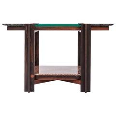 Mais, Dark Freijo Table with Tabs, by Alva Design