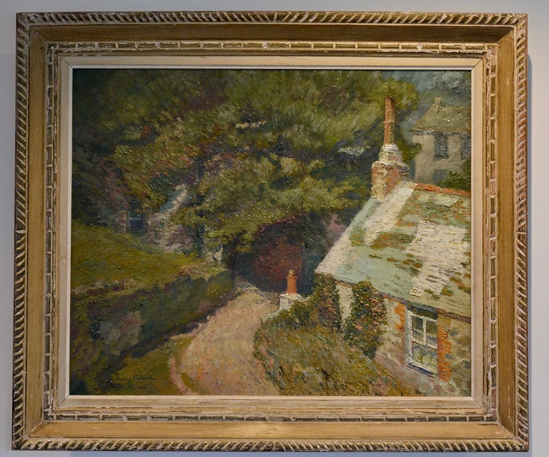 Maison a la Fleurie, St Ives. Oil on canvas signed and dated 1911  This painting was exhibited at the Salon des Independents in 1912 and also at the famous Salon de Section d'Or exhibition at galerie La Boetie in October 1912.  Framed in