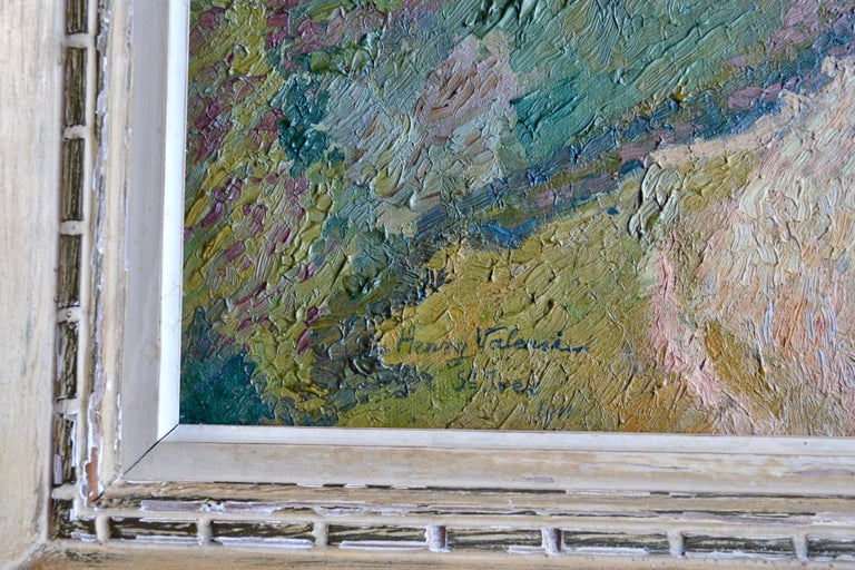 Maison a la Fleurie, St Ives 20th Century French Impressionist Oil Painting In Excellent Condition For Sale In London, GB