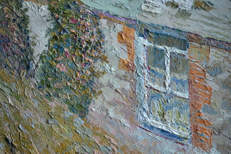 Early 20th Century Maison a la Fleurie, St Ives 20th Century French Impressionist Oil Painting For Sale