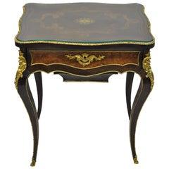 Maison Alphonse Giroux Paris Louis XV Ladies Work Table Sewing Vanity Stand