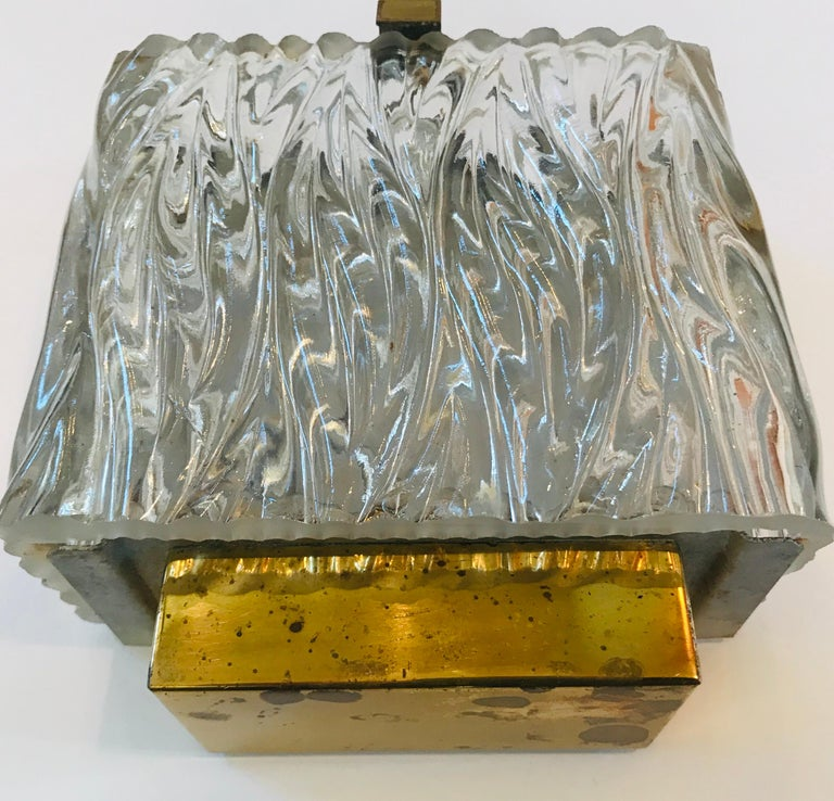 Maison Arlus French 1960s Glass Wall Light For Sale 6