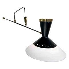 Maison Arlus, Large Counter Balance Wall Lamp Modèle 1340, France, 1957