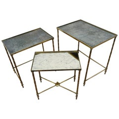Maison Baguès Brass Nesting Tables