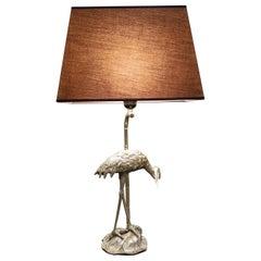 Maison Baguès Crane Bird Table Lamp, 1960s