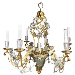 Maison Baguès Crystal Pagoda Chandelier with Seven-Lights