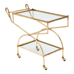 Maison Baguès French Brass Bar Cart