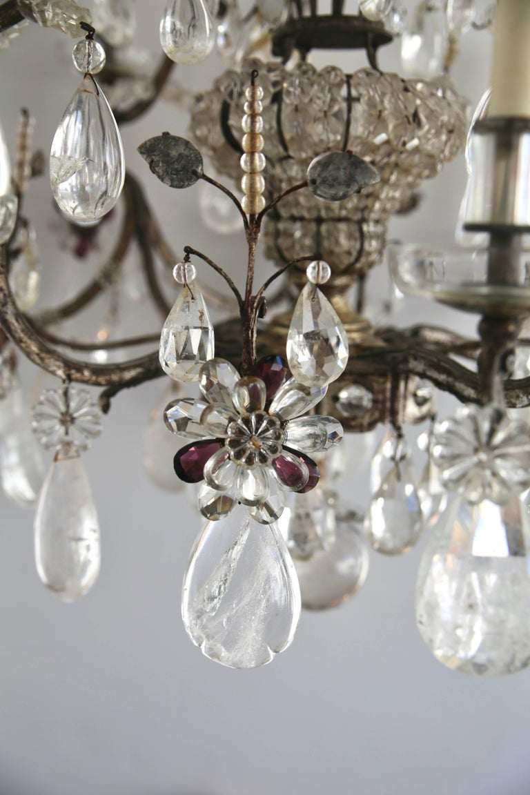 Louis XV Style Rock Crystal Chandelier For Sale 2