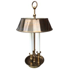 Maison Baguès or Maison Charles Bronze Brass Bouillotte French Table Lamp, 1950