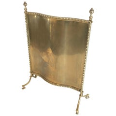 Maison Bagués, Rare Bronze and Brass Faux Bamboo Fire Place Screen, French