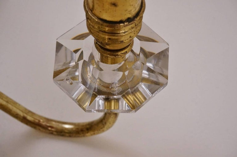 Maison Bagues Style Chandelier, Bronze and Crystal, French, circa 1940s For Sale 8