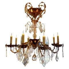 Maison Baguès Style Eight-Light Crystal Chandelier