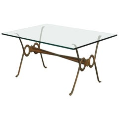 Rene Drouet Style French Bronze Coffee Cocktail Table