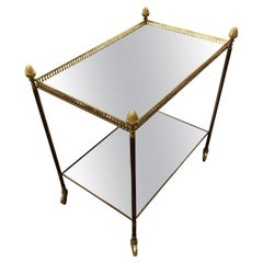 """Maison Bagues, Trolley in Bronze and """"Cloudy"""" Mirror, circa 1950"""