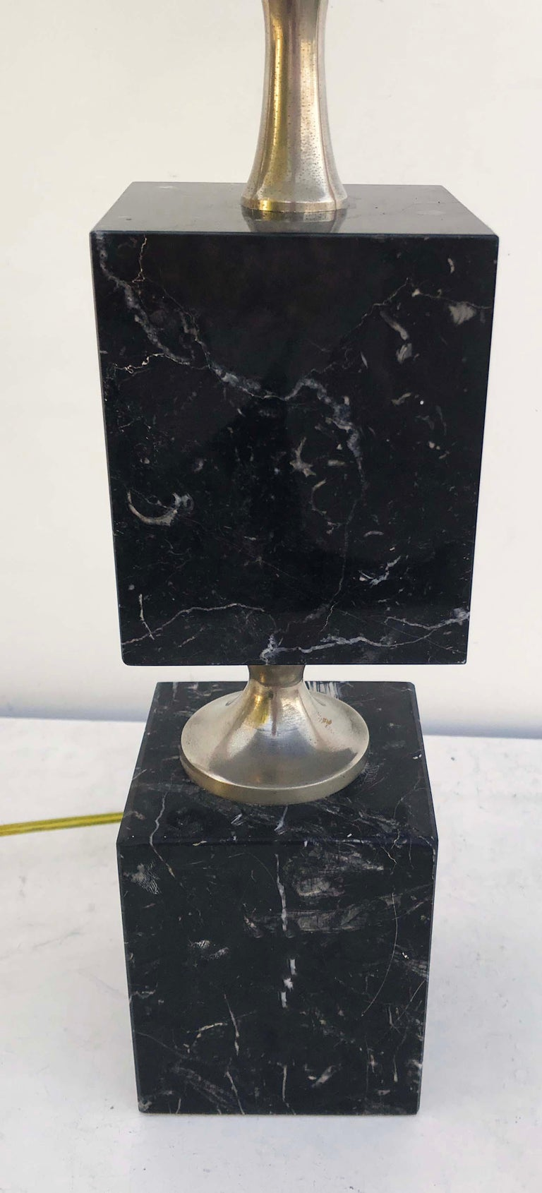Maison Barbier Marble Table Lamp In Good Condition For Sale In Miami, FL