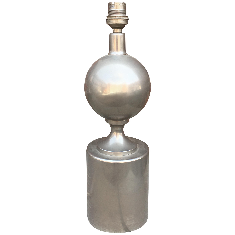 Maison Barbier Steel Lamp, France, 1970s