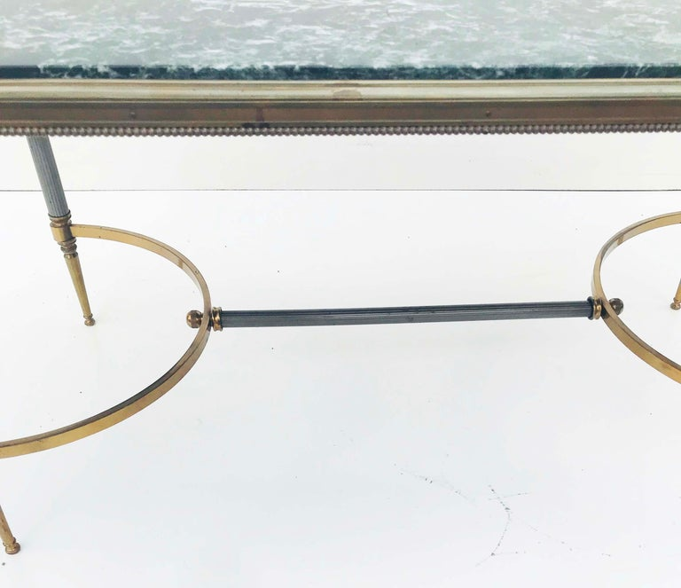 Maison Charles Bronze and Marble Coffee Table In Good Condition For Sale In Miami, FL