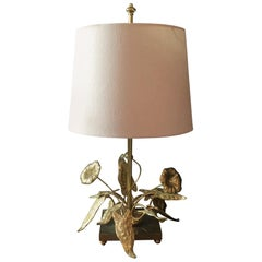 Maison Charles Flowers and Foliage Table Lamp, 1960s
