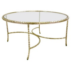 Maison Charles Gilt Bronze Coffee Table, circa 1960, France