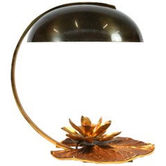 "Maison Charles ""Nenuphar"" Bronze Table Lamp Designed by Chrystiane Charles"
