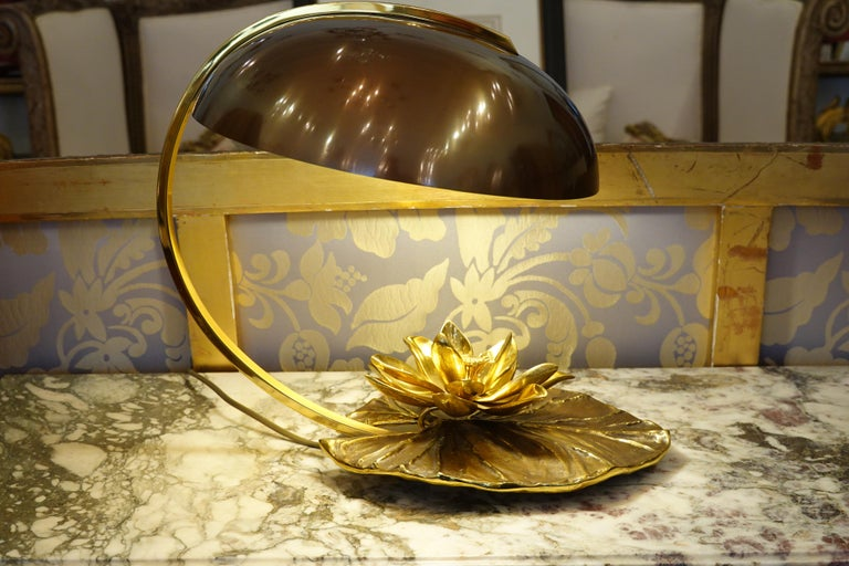 Maison Charles Nenuphar or Water Lily Desk Lamp For Sale 2