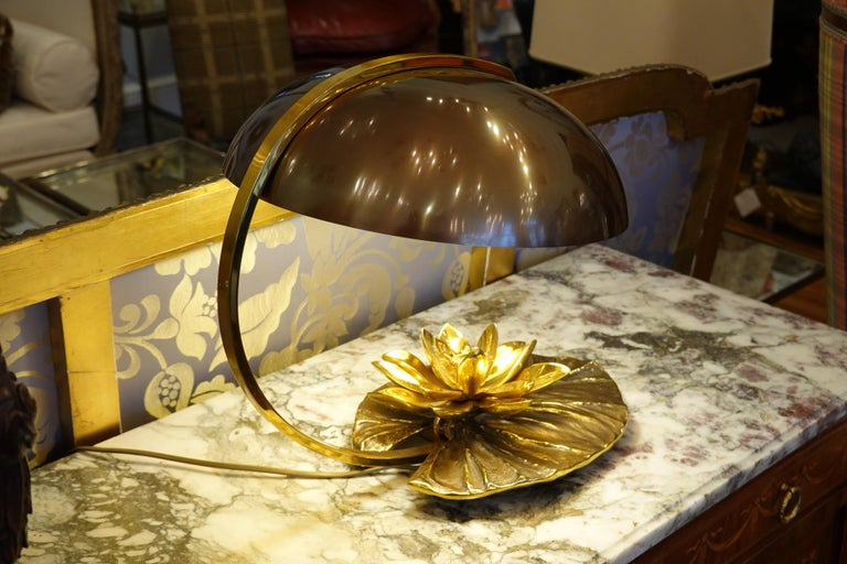 Maison Charles Nenuphar or Water Lily Desk Lamp For Sale 4