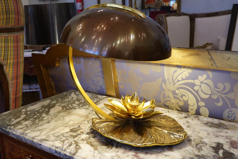 Maison Charles Nenuphar or Water Lily Desk Lamp For Sale 6
