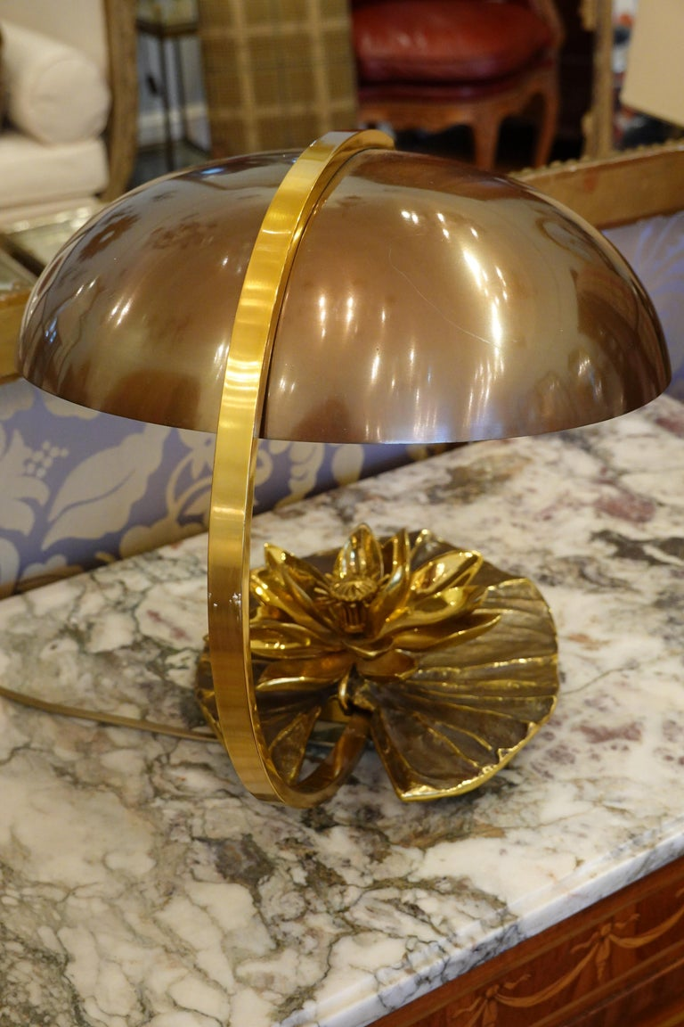 Maison Charles Nenuphar or Water Lily Desk Lamp In Good Condition For Sale In Charleston, SC
