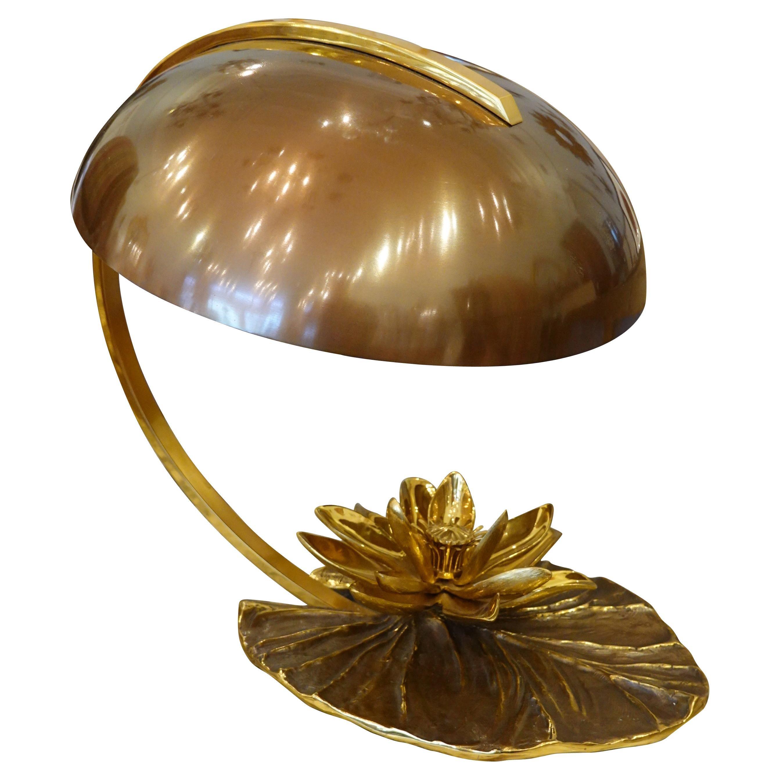 Maison Charles Nenuphar or Water Lily Desk Lamp