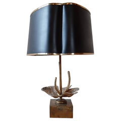 Maison Charles Nenuphar Water Lily Table Lamp from the 1960s